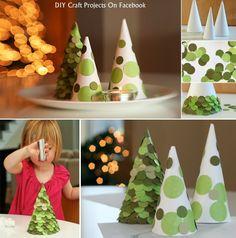 Snow Cone Christmas Tree DIY Christmas trees Christmas Decorations Christmas Decorating Ideas