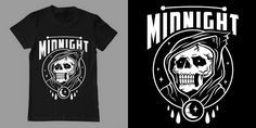 """""""after midnight"""" t-shirt design by Hellfun Co."""