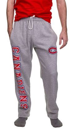Montreal Canadiens Fleece Sweatpants What Team, Montreal Canadiens, Team Names, Your Boyfriend, Nhl, Athlete, Sweatpants, Stylish, How To Wear