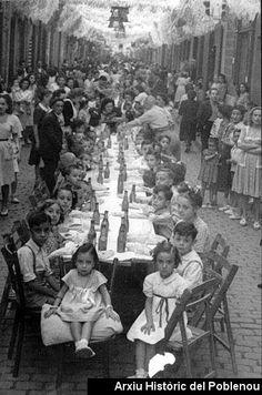 Festa Major 1946 Festa Major. Berenar infantil amb 300 nens veïns i 100 del Patronat de Protecció