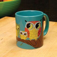Awesome Owl Mug Cup with Colorful Owl Graphic Modern Mug