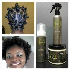 Bantu Knot Out -- Great Products to Use.