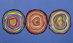 Create a work of art from the natural beauty of tree rings.