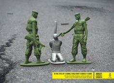 "Second part of the campaign made by the Croatian agency Hype for Amnesty International Croatia. Toy Soldiers is a print campaign which concerns a grim issue of executions being done in Somalia. These horrible acts have become a part of daily life in this war-torn country and Somali children are often witnesses to gruesome murders. ""In the eyes of a Somali child, war is barely a game."""