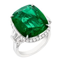 Fabergé Devotion Emerald 11.44ct Ring #Fabergé #emerald #ring