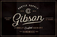 Gibson Script + Extras by Hustle Supply Co. on @creativemarket
