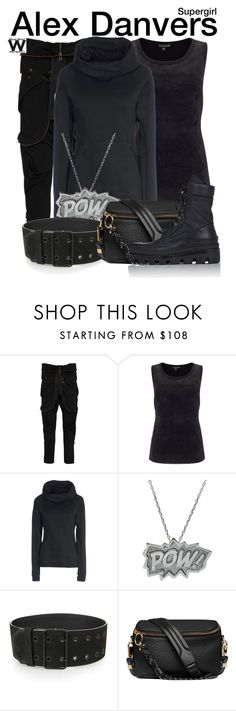 """""""Supergirl"""" by wearwhatyouwatch ❤ liked on Polyvore featuring Faith Connexion, Adrianna Papell, NIKE, Edge Only, Haider Ackermann, Balenciaga, television and wearwhatyouwatch"""