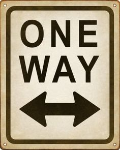 Funny Road Sign (One Way - Pointing Both Ways) by New Retro Signworks, http://www.amazon.com/dp/B0048C15LO/ref=cm_sw_r_pi_dp_7fpFqb1AJ0ACD