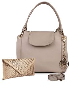 Classic Fashion Cream Color Handbag Combo for Women - Wedding Collections Classic Style Women, Classic Fashion, Leather Material, Color Combos, Shoulder Bag, Beige, Cream, Womens Fashion, Women Bags