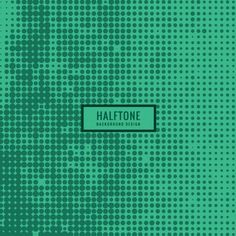 Green halftone background Free Vector