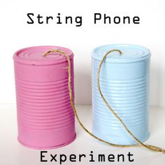 String Phone Experiment The kids can learn all about Sound Waves with this fun Science Experiment! Kid Science, Sound Science, 1st Grade Science, Cool Science Experiments, Science Fair Projects, Preschool Science, Physical Science, Science Classroom, Science Lessons