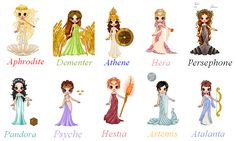Women of Greek Mythology by !sofie111 perfect ideas for roman themed renaissance
