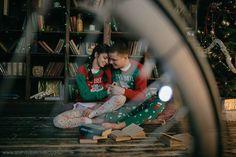 Новогодняя фотосессия пары в фотостудии в Москве у фотографа-сценариста Саши Веселовской
