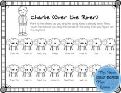 "Charlie (Over the River) Rhythm Preparation Chart from ""All Things Rhythm: Tika-Ti"""