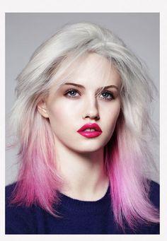Pink ombré hair