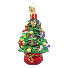 Christopher Radko Ornaments | Radko Topiary Treasure Trees Present Ornament 1018333