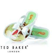 Ted Baker Polee Flip Flops - Light Blue/Multicoloured