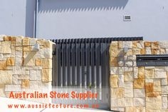 Australian Sandstone Colonial Walling made up of natural sandstone cladding. Available in 4 colors. Sandstone Corner &Sandstone Capping are available too. Sandstone Cladding, Natural Stone Cladding, Natural Stone Wall, Sandstone Fireplace, Sandstone Wall, Sandstone Paving, Home Design, Wall Design, Wall Texture Patterns