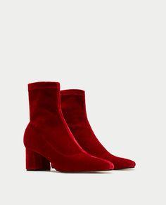 Velvet ankle boots - Zara aw17