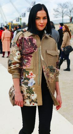 Valentino Street Style. Paris Fashion Week. Phil Oh.