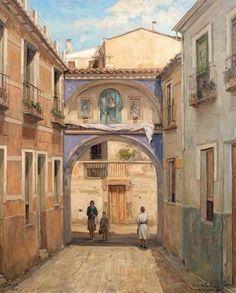 Siete pintores 'cabe' el arco de la Aurora. De portillo de almarjal a corazón de Murcia - Región de Murcia Digital