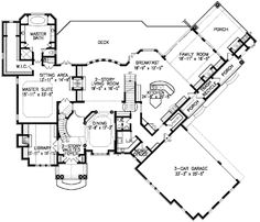 Plan W15634GE: European, Traditional, Premium Collection, Photo Gallery, Corner Lot, Luxury, Sloping Lot House Plans & Home Designs