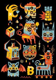 Kind of nightmarish, but I love the colors. Reminds me of Dia de los Muertos.
