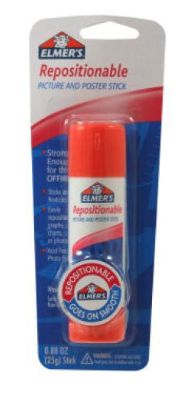 Amazing Product:  Elmer's Repostionable Glue Stick.  This stick turns any piece of paper into a reusable sticky note.