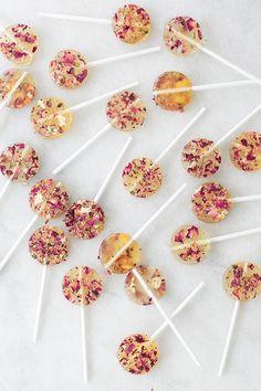 homemade rose lollipops