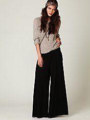 Free People Wideleg Jersey Pant #fashion #clothing #freepeople