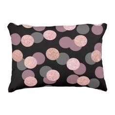 #modern - #elegant rose gold glitter pastel pink confetti accent pillow