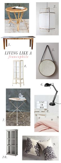 get the look: living like a francophile / @sfgirlbybay