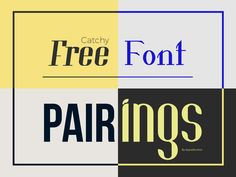Discover the most unique free font pairings. Awe you friends and clients by incorporating these matching fonts in your personal and commercial projects.