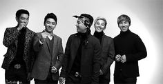 I love how GD just stands there, smiling like an idiot at his members.