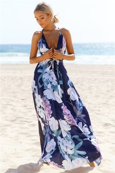 HelloMolly | Lovers And Friends Maxi Dress Navy - Back In Stock - Most Loved