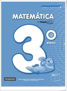 """""""Cuaderno de Matemáticas de 3º de Primaria"""" (Editorial Pearson Chile)"""