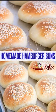 Homemade Hamburger Buns – these soft rolls are so easy to make, taste amazing and go perfectly with burgers! Make these ahead for burger night! Homemade Burger Buns, Homemade Hamburgers, Hamburger Bun Recipe Bread Machine, Potato Hamburger Buns Recipe, Homemade Bread Buns, Vegan Hamburger Buns, Hamburger Cake, Easy Bread, Burger Bread