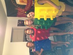 Lego Halloween costumes card board box and solo cups easy!