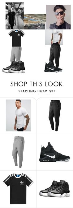 """High School* 😻Gerald😻 & 💦Danny💦 in weight training🏋"" by gamergirl247 ❤ liked on Polyvore featuring Gym King, New Balance, NIKE, adidas, men's fashion, menswear and bestfriendgoals"