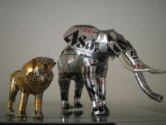Incredible Sculptures Made From Aluminum Cans