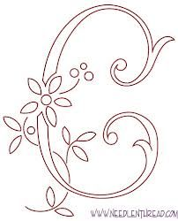 hand embroidery letters patterns - Google Search