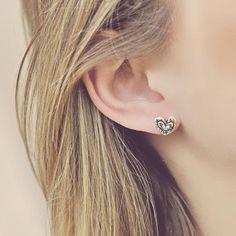 Triple heart earrings   #earrings #jewelry #cowgirljewelry   http://www.islandcowgirl.com/