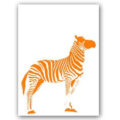 Orange Zebra   Fine art print by ialbert on Etsy, $55.00