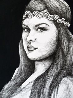 CUSTOM PORTRAIT DRAWING pen and ink by creativecarmelina on Etsy, $100.00