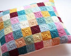 Granny squares pillow