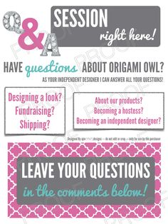 Great way to get guests involved in online / virtual Jewelry Bar Party and share what O2 is all about! Origami Owl Inspired - Instant Digital Graphic Download