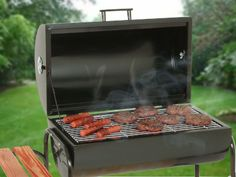 Charcoal Grill Smoker Barrel Grate Shelves BBQ Steel Outdoor 2 wheels Portable - Smokers - Ideas of Smokers Charcoal Grill Smoker, Best Charcoal Grill, Bbq Grill Parts, How To Grill Steak, Electric Meat Smokers, Small Bbq, Barrel Bbq, How To Clean Bbq, Barbecue Pit