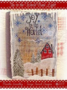 Painting With Friends E Pattern - Joy to the World Book Ligh - Painted by Martha Smalley