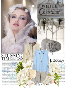 """""""White Christmas - Timeless"""" by enafromthemoon ❤ liked on Polyvore"""