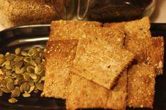 Crackers integrais de sementes